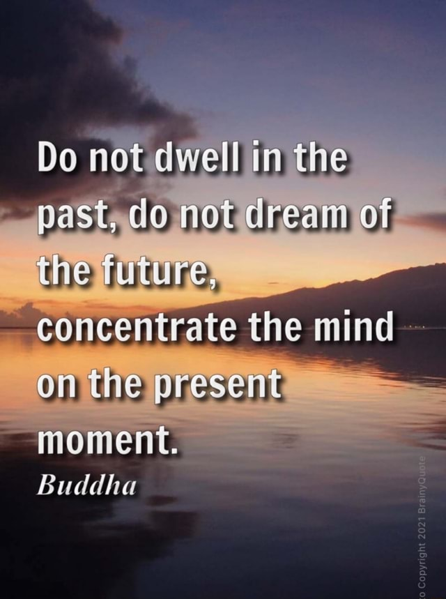 Do not dwell in the past, do not dream the future, concentrate the mind on the present MOMeNt. Buddha memes