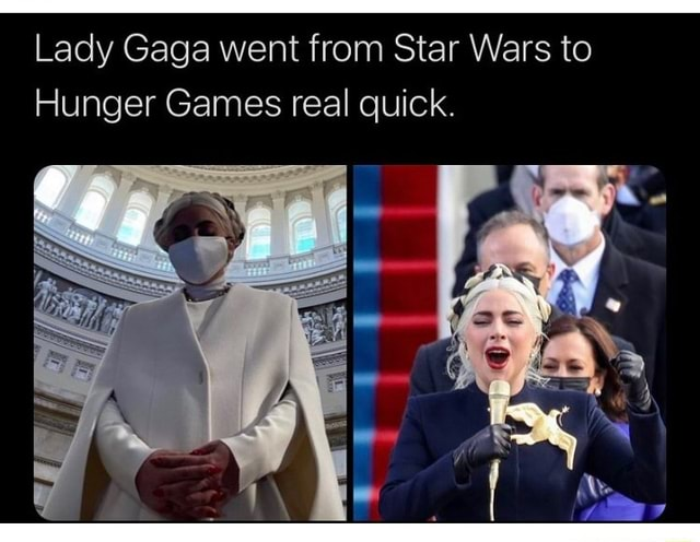 Lady Gaga went from Star Wars to Hunger Games real quick memes