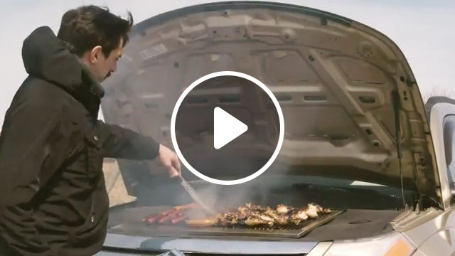 Cook on a Car Engine, prank, funny, funny videos, car, engine