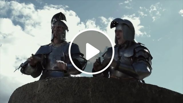 He who laughs today may weep tomorrow, funny, funny soldier, castle, armor
