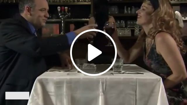 How to fix a broken table in a restaurant? wait for it, haha - Funny Videos - funvizeo.com - restaurant, broken table, fix, restaurant table, humor, dinner, sugar package, glass