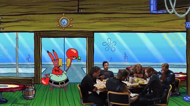 Avengers in Krusty Krab meme - Video & GIFs | Spongebob meme,avengers meme,krusty krab meme,spongebob squarepants meme,marvel meme,cartoon meme,hybrids meme,mashups meme