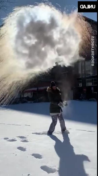 Hot Water Turns Into Snow in RUSSIA meme