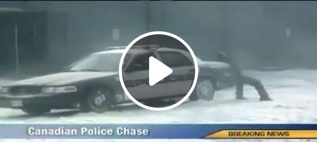 Dramatic Chase, police, snow, chase, funny