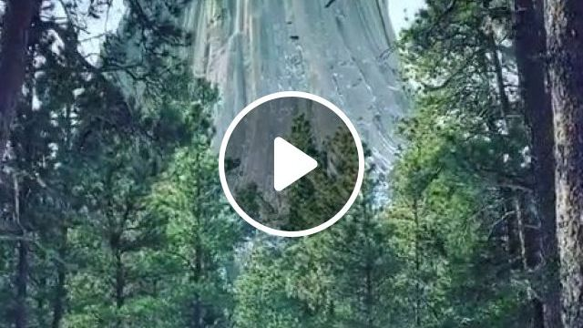 Devils Tower National Monument - Video & GIFs | devils tower legend, devils tower tree, beautiful nature