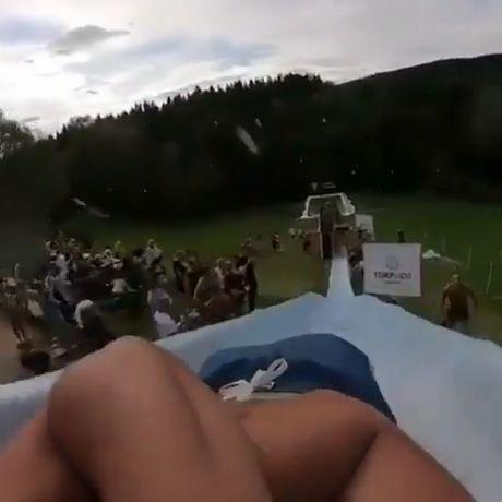 Thrilling water slide