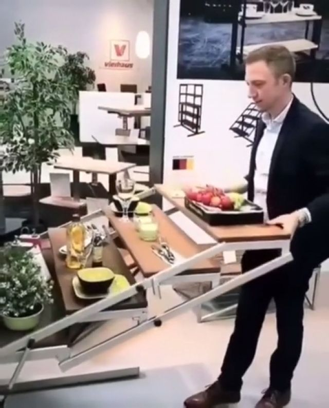 Space Saving Dining Table - Funny Videos - funvizeo.com - table,kitchen,funny,dining tables