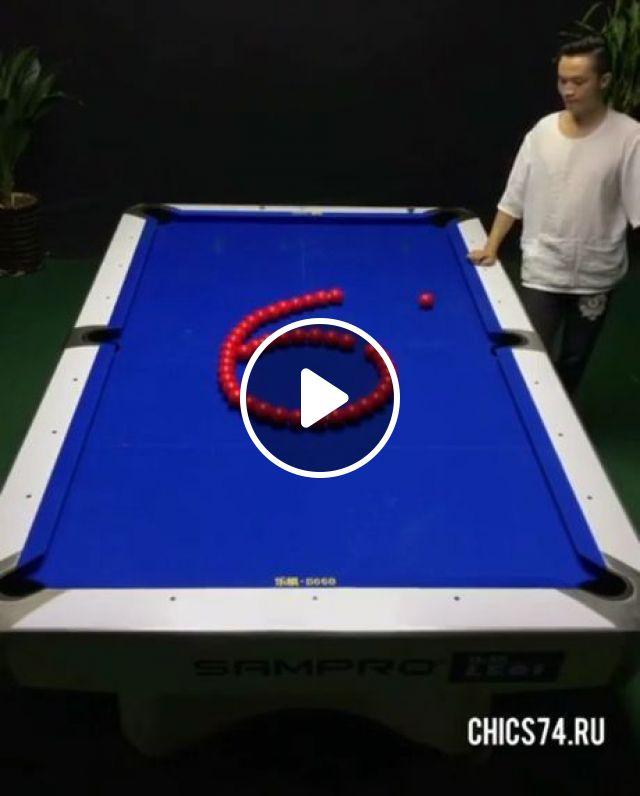 Snooker skills, funny, funny videos, billiard, talent, skill, snooker