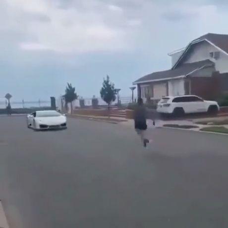 Jumping Over Lamborghini Fail