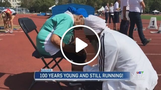 100 years young and still running!, running, old, funny, wonder