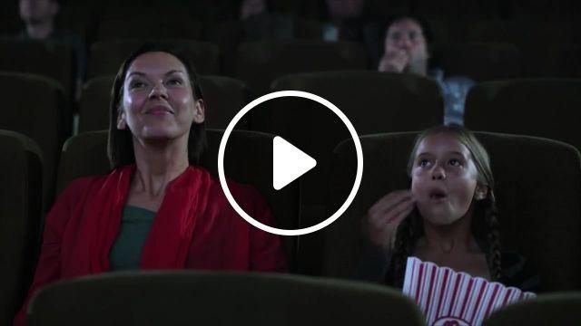 In the cinema, cinema, big, funny