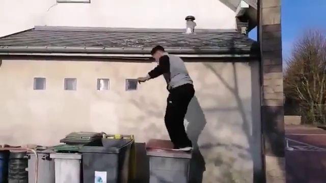 Do not do parkour near the trash, hi hi