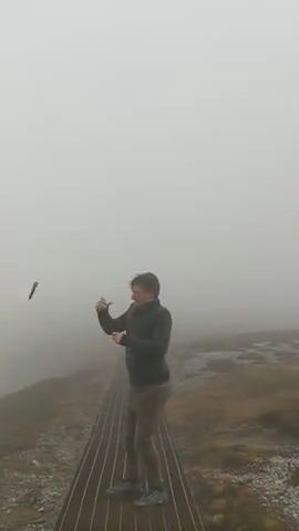 Consequences when taking pictures in strong winds, hahaha