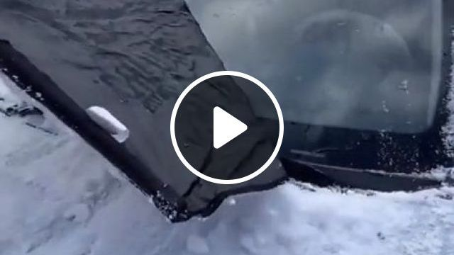 Removing A Frost Guard - Video & GIFs | satisfying, frost guard, car, funny
