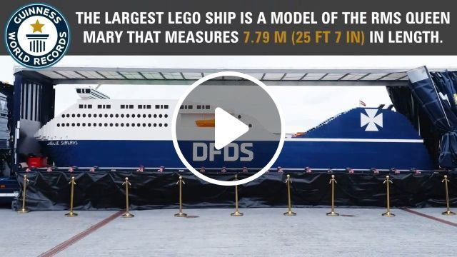 Largest Lego Ship - World Record, funny videos, funny, lego ship, world record