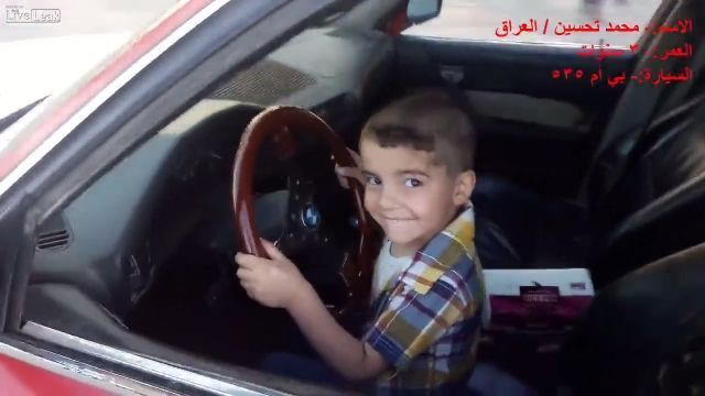 Omg, he is only 3 years old - Funny Videos - funvizeo.com - drift, kid, funny, car