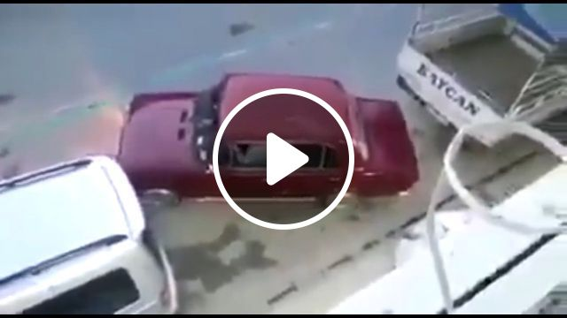 The secret to parking in a small space, lol, parking, funny, car, small, secret