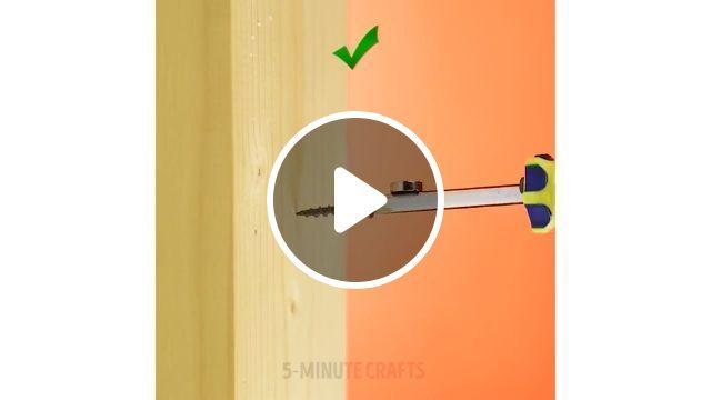 How To Keep A Screw On The Screwdriver - Funny Videos - funvizeo.com - Screw, drill, humor, tips, magnet, wood, screwdriver