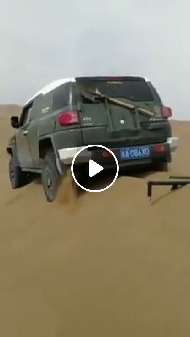 How to get your car out of a sand dune, sand, shovel, funny, desert, car