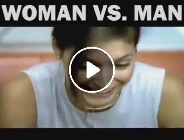 Woman vs. Man, funny, woman, man, copy, metro