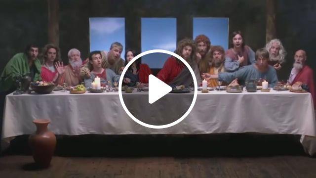 The Last Supper by Leonardo Da Vinci, lol, the last supper, leonardo da vinci, funny, artist, painting