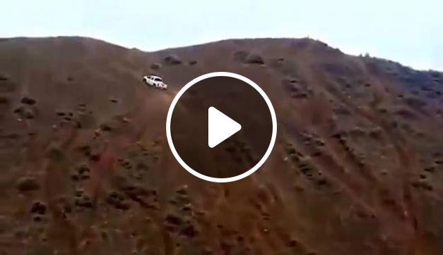 Amazing, pickup truck conquered steep hills, off-road, steep hills, steep, pickup truck, funny