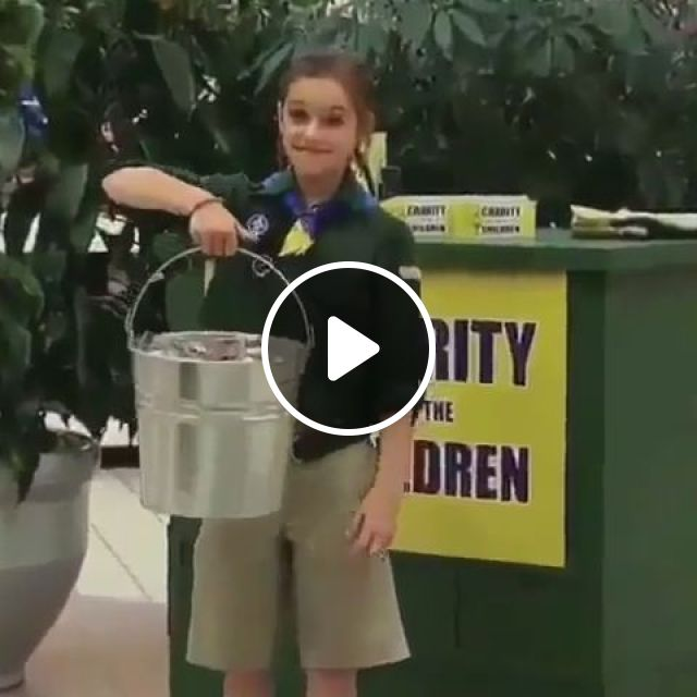Super Child, prank, funny, child, super, strong, coin, metal bucket