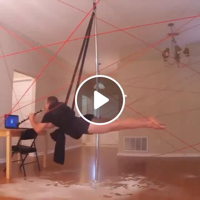 Mission Impossible: Men's Pole Dancing, talent, dance, funny, trumpet, pole dance