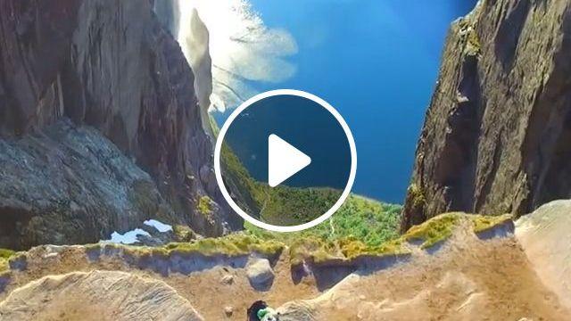 Beautiful nature, beautiful nature, funny, lake, cliff
