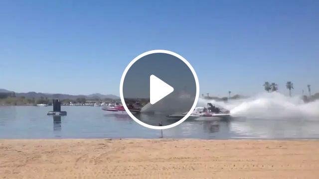 Speedboat Racing on the River, speedboat, boat, racing, funny, jet engine, camera, river