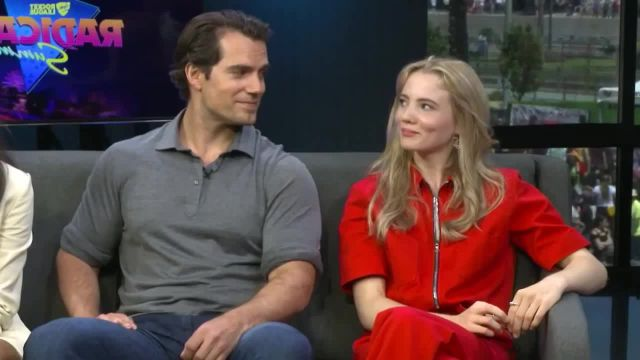 Henry Cavill Freya Allan Interview The Witcher Geralt Ciri meme