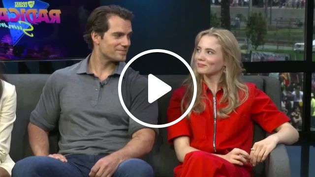 Henry Cavill Freya Allan Interview The Witcher Geralt Ciri meme, Henry cavill meme, freya allan meme, interview meme, the witcher meme, geralt meme, song true love will find you in the end crybaby meme