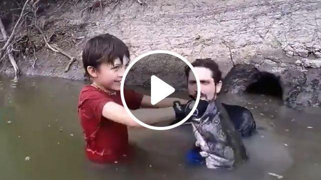 Amazing Children Catching Fish By Hand