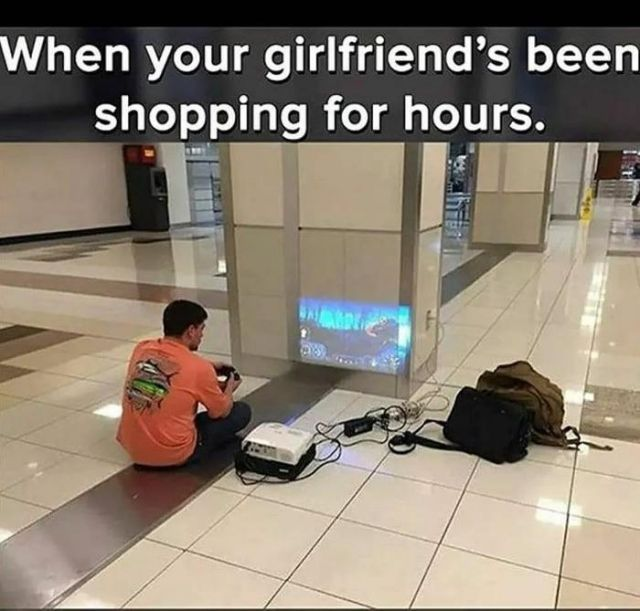 Shopping with your girlfriend meme