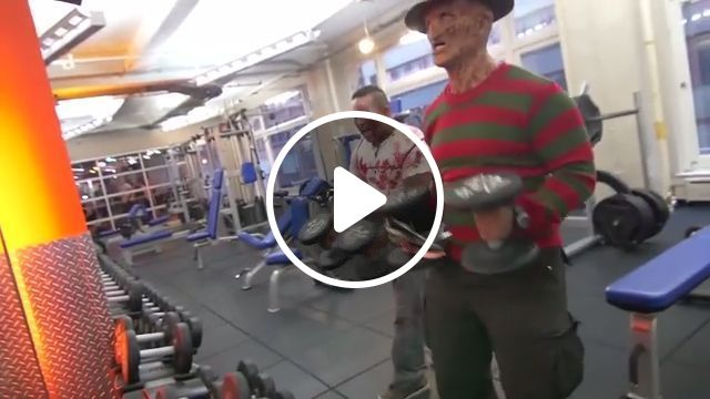 Room of gym in the halloween days, halloween, funny, ghost, gym