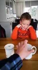 Dad Pranks Son With Find the Candy in Cups Trick