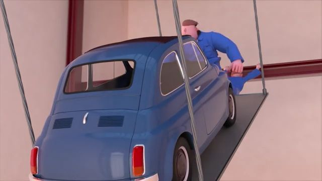 No Way Out - Funny Videos - funvizeo.com - cartoon, funny, car, wooden swing
