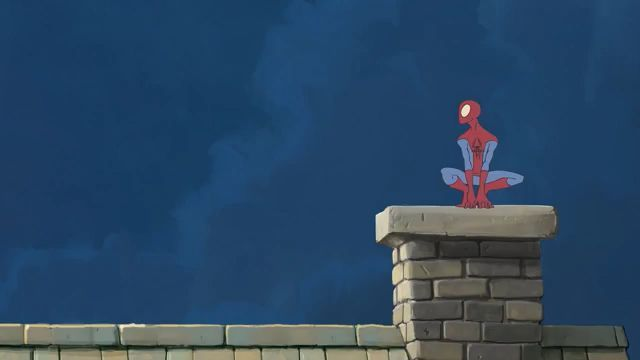 When spiderman come to the countryside, lol - Funny Videos - funvizeo.com - spiderman, travel, go to the countryside, funny