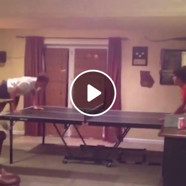 Head Ping Pong - Video & GIFs | table tennis, funny, head, ping pong