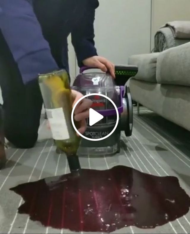 How To Remove Red Wine Stains From Carpet - Video & GIFs   satisfying, awesome, funny, wine, carpet