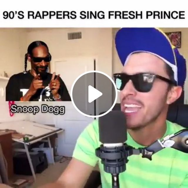 90's Rappers Sing Fresh Prince - Video & GIFs | will smith, snoop dogg, rapper, funny, memes