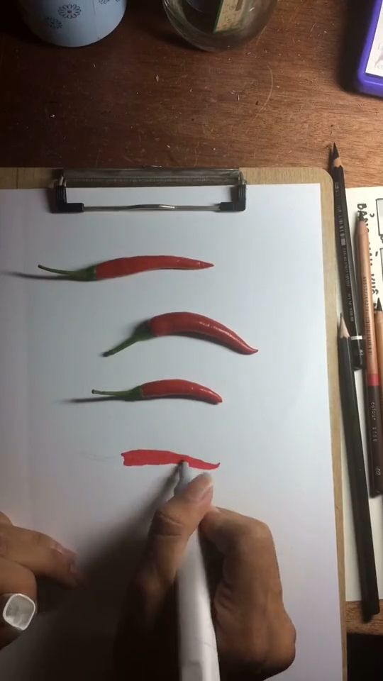 Chili pepper drawing - Funny Videos - funvizeo.com - funny,awesome,chili,draw