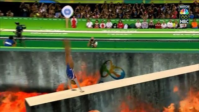 OMG, Is it real? - Funny Videos - funvizeo.com - funny sports gifs, funny, olympic, danger, fire