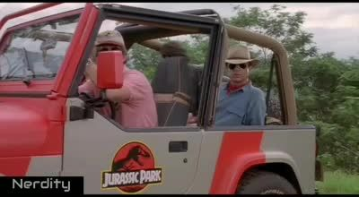 Wait for it.... Tyrannosaurus, lol - Funny Videos - funvizeo.com - juara,dinosaurs, motorcycles, funny, jeep car, park, travel